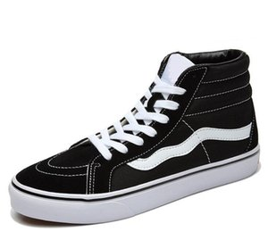 New quente Classics Black White alta Skate Shoes Old Skool Sk8-Hi Canvas Homens Mulheres Casual Flat Shoes Sneakers 35-45
