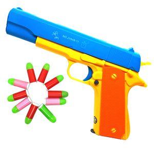 M1911 Colt45 Опора Пистолет Костюм Игрушечный Винтовочный Пистолет Рабочая Пуля Слайд Пули