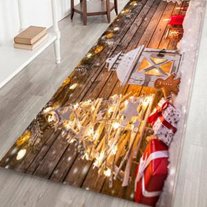 Nuovo! Capodanno Natale decorazione Benvenuto zerbini coperta casa Tappeti decorazione natale natale decorazione natale 40x120CM