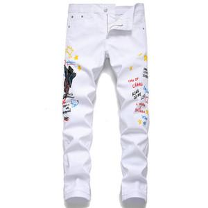2020 new mens designer jeans quality mens skinny jean slim denim straight biker s casual long men distressed jeans pour hommes