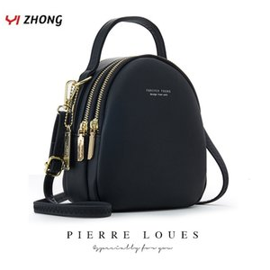 Yizhong Leather Mini-Rucksack Geldbeutel für Frauen-Damen Bookbag Multi-Funktions-Luxus-Umhängetasche Messgner Taschen Mochila Feminina LY191203