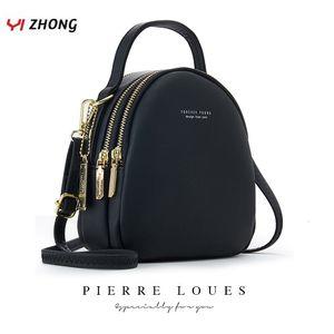 Yizhong Leather Mini Mochila Monedero para señoras de las mujeres Bookbag multi-función del hombro de lujo bolsa Messgner Bolsas Mochila Femenina LY191203