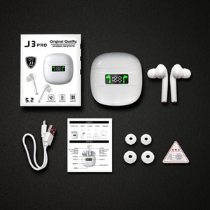 50 PCS J3 Pro TWS Inalámbrico Bluetooth Auriculares Deporte Auricular Control Táctil Bluetooth 5.2 LED Pantalla Auriculares para todos los teléfonos