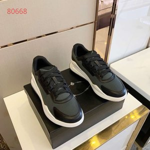 PRADA Fastlane Sneaker Denim Monogram designer de luxe Mans Lace Up Sneakers Mode Hommes Formateurs Designer En Plein Air Casual Chaussures C1