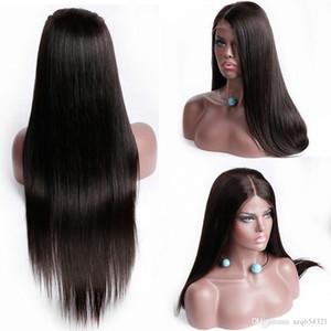 Perruque brésilienne Full End Lace Front haute température fil perruques préplucked Droite Lace Front Wig Lace Frontale Naturel