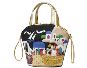 Sac à bandoulière pour femme Cartoon Satchel Tote Bucket Purse Bag