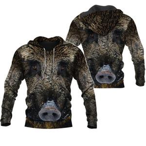 Liumaohua Boar hunting 3D All Over Printed Shirts 3D Print Hoodie Sweatshirt Zipper Man Women Jungle hunting Wild boar tops