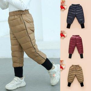 Enfants Garçons Filles d'hiver chaud épais coton vers le bas Pantalon en polaire Pantalon imperméable