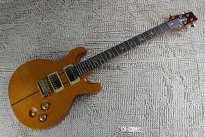2014 neue Ankunft + free shipping + factory + PRS 24 Bünde E-Gitarre, PRS Flamme Ahorn gelbe Farbe individuelle Gitarre