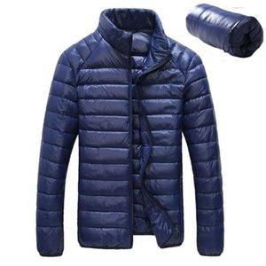 Nueva Otoño Invierno pato Downs chaqueta de los hombres ultra ligera capa de plumas casual impermeable Ligera Downs Parkas hombres Outwear 3XL