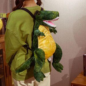 섹시한 시뮬레이션 살아있는 공룡 배낭 봉제 장난감 인형 동물 티라노 가방 성인 어린이 귀여운 선물 보이 크리에이티브 가방