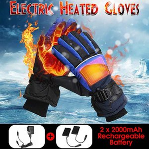 1 Luvas Par elétrico aquecido Inverno USB térmica Hand Warmer Touch Screen inverno mais quente impermeável para Luvas Motorcycle Esqui