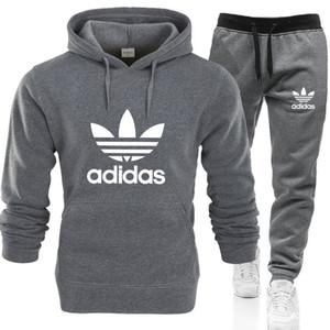 2020 Erkekler Kadın Sonbahar / Kış Hoodie Seti Marka Giyim Harf Hoodie Pantolon 2 Adet Pantolon Spor Seti 0123