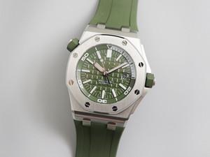 JF yeni 15710ST askeri yeşil serisi üst düzey erkekler 42mm 3120 otomatik hareket lüks mens saatler tasarımcı saatler izlemek