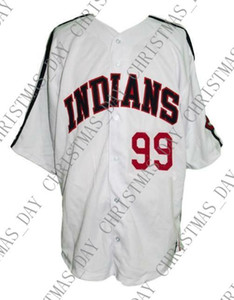 Özel 99 Wild Thing Rick Vaughn Major League Film Beyzbol Jersey Dikişli Herhangi bir oyuncu forması kolej XS-5XL