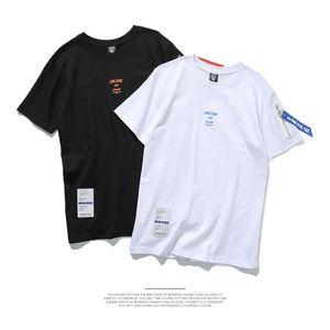 Hot Fashion Brand Men T shirt Cotton Short T Shirt With Belt Letter Printed T Shirts Mens Summer Street Tops tee