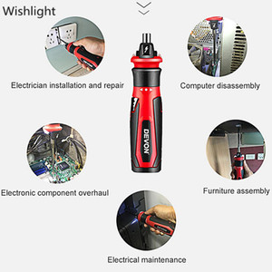 Electric Screw Driver Cordless Rechargeable Lithium-ion LED Household Multi-function Screw Driver Mini Batch Hand Power Tool