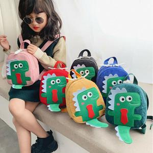 Hot bonito crianças Unisex Rapazes Meninas Dinosaur Design Animais Mochila Criança Escola dos desenhos animados Travel Bag Bookbag