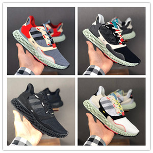 erkekler Kadınlar Tasarımcı Konsorsiyum Sneakers Runner Fatura Kamp Yürüyüş İçin Yeni Futurecraft ZX4000 4D Spor Ayakkabıları Koşu Trainer Ayakkabı Koşu