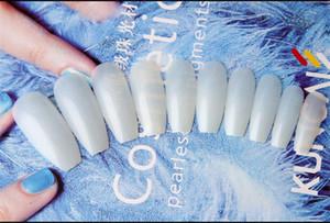 120pcs / Box bailarina Dicas Nail Art Natural Falso Coffin Nails Art Tips Plano forma completa Tampa Manicure Tips Falso prego