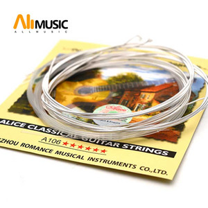 10SET ALICE A106-H Classical Guitar String Clear Nylon Nylon Core Silver-Plated Copper Alloy Wound Guitar Parts