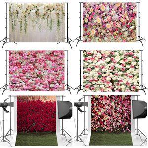 Fondo de flores artificiales 3D Paño Boda Tomar foto Fondo rosa Ropa Flores simuladas Telones Decoración Nueva llegada 26hsa L1