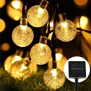 Solar String Light 30LED Fairy String Lights Bubble Crystal Ball Lights Decorative Lighting for Outdoor Garden Home Party