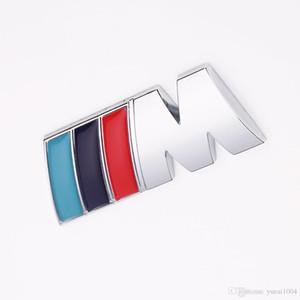 1 шт / много Охладите Автомобиль украшения Знак наклейки M Логотип Металл 3D автомобилей Наклейка для BMW M3 M5 X1 X3 X5 X6 E36 E39 E46 E30 E60