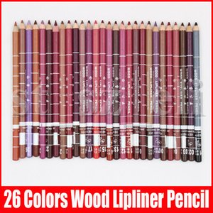 26 Farben Wasserdicht Lip Liner Bleistift Lipliner Contour Matte Lipstick Pen Long Lasting Retro Red Eye Lip Pencil