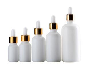 High Quality White Porcelain imballaggio cosmetico Bottiglie di vetro con siero fleboclisi 10ml 15ml 30ml 50ml 100ml bottiglie di olio essenziale di vetro