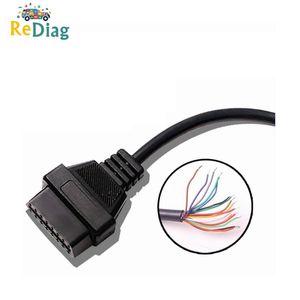 10pcs / Lot Obd2 16 Abertura Pin Female Extension Cable Car Interface de diagnóstico Connector Feminino Converter Obd2 cabo macho