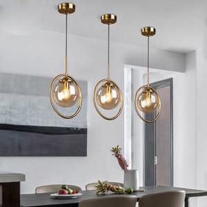 Altın Metal Sil / Duman gri / Amber Cam Çubuğu Kolye Işıkları Başucu Hanglamp Restoran Oturma odası Sarkıt Nordic Lamba E27