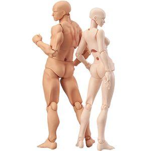 13cm Action Figure Jouets Artiste Corps mobile Homme Femme Joint PVC Figure chiffres Modèle d'art Esquisse BJD Mannequin Dessiner LY191210 figurine