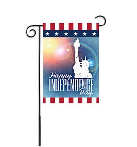 Giardino Bandiera poliestere Stella linguetta appesa Flags 4th Of July Yard Banner Independence Day Home Decor 14 progetta all'ingrosso WZW-YW3840