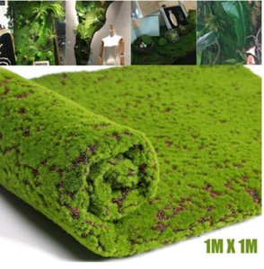 Moss Artificial artesanato Falso decorativa grama para o Natal Home Office Plant Simulation DIY Wall Decor Jardim Micro Landscape