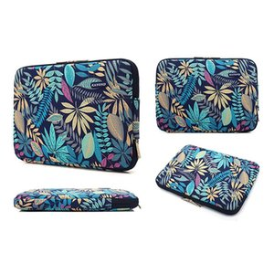 Laptop Sleeve Bag Compatible with MacBook Pro, Polyester Vertical Case Cover with Pocket for 15 - 15.6 Inch Laptop