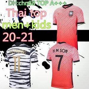 2020 Corée du Sud maison rouge SON FOOTBALL 20 21 Corée du Sud loin noir HYUNG KIM LEE HO KIM SON MAILLOT football Maillots hommes personnalisés enfants