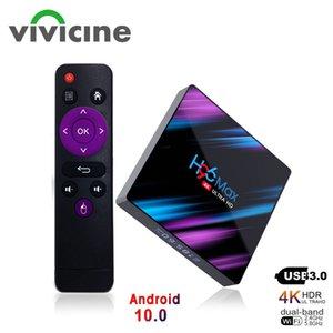 H96 MAX Smart TV Box Android 10.0 4G 64GB Dört Çekirdek Kablosuz IPTV 4K USB Netflix Youtube 10 Set Üstü Media Player
