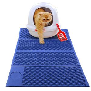 고양이 쓰레기 매트 사냥꾼 접이식 세척 패드 애완 동물 러그 더블 사이드 쉬운 청소 사용