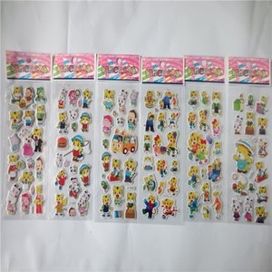 100sheets 3D Puffy Bubble Stickers Animal Cartoon Tiger Waterpoof DIY Baby Toys for Children Kids Boy Girl