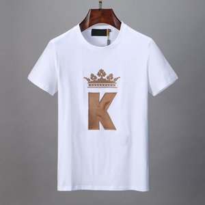 2020 designer new design fashion men's short sleeve T-shirt 100% cotton fabric rose gold delicate embroidery