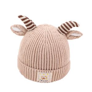 2020 bébé automne mignon et chapeau à capuchon corne chapeau hiver oreille protection bébé fille garçon 2019 marée bonnet de laine