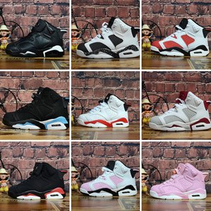 kids Basketball shoes Boy&Girl black red Infrared Carmine j 6 6s UNC Toro Hare Oreo Youth Children Sports Sneakers size EU28-35