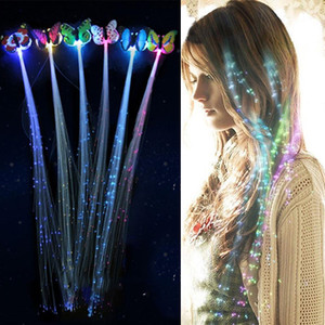 12Pcs LED Flashing Hair Braid Glowing Luminescent Hairpin Hair Ornament Girls LED Novetly Toys New Year Party Christmas