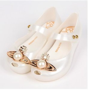 키즈 아기 비치 샌들 PVC MADER 진주 물고기 입 어린이 신발 소녀 사랑 젤리 미니 멜리사 신발