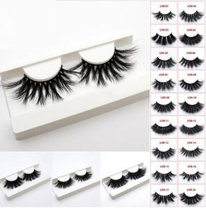 44 styles 5D Vison Cheveux 25mm Faux Cils Épais Longs Désordre Cross Eye Lashes Extension Maquillage Des Yeux Outils