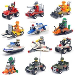 blocos de construção montados brinquedos educativos automóvel de navios a vapor aeronaves infantis partículas de PVC construindo presentes bloqueia brinquedos para crianças