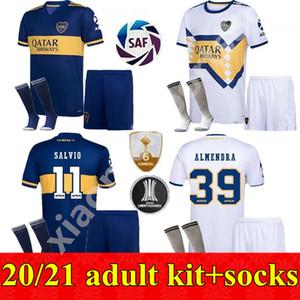 2020 2021 Boca Juniors fútbol casero Jersey de los kits de lejos los hombres adultos de 20 21 GAGO OSVALDO CARLITOS TEVEZ DE ROSSI PAVON JRS camiseta de fútbol