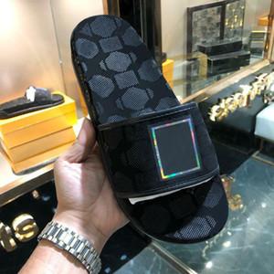 heiße Marke Mens Strand Slide Sandalen Medusa Scuffs 2020 Leder Kunststoff Hausschuhe Herren weiß Beach Fashion Slip-on-Designer Sandalen US 7-12 abc