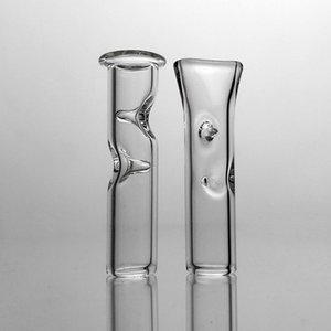 7mm OD 미니 허브 필터 팁 드라이 허브 담배 RAW 롤링 종이 두꺼운 Pyrex 유리 흡연 파이프 Cheap Glass Tobacco Cigarette Holder
